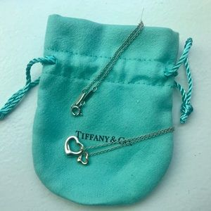 Tiffany open heart necklace